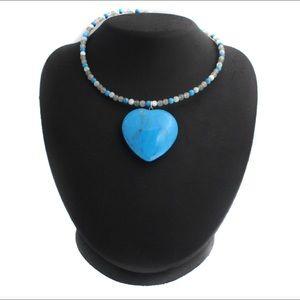 Lee Sands Heart Necklace